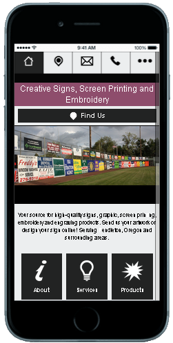 Visit the Creative Signs' Mobile Site