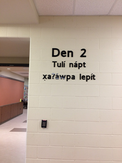 Dimensional letters were placed at each of the 3 main hallways - Den 1, Den 2 and Den 3.